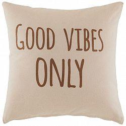 Dekorační Polštář Good Vibes Only,45/45cm,růžová