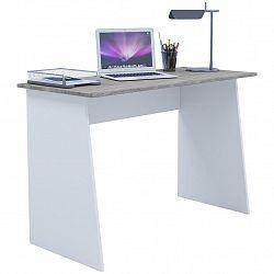 Písací Stôl Masola Maxi 110cm Bílá/dub